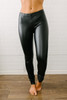 Faux Leather Leggings - Black