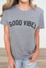 Suburban Riot Good Vibes Tee - Heather Grey - FINAL SALE