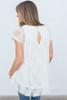 Short Sleeve Lace Tunic - Ivory