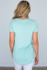 Nadine V Neck Tee - Mint
