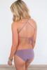 Solid Cutout Bikini Bottom - Purple Haze