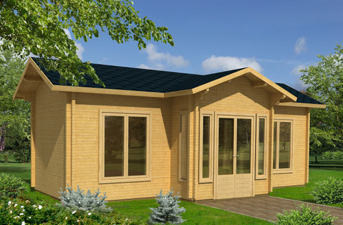 The Anna 1 is a beautiful multi-room log cabin made from 70mm thick walls. This model is perfect for a holiday home for personal use or to rent out to customers for getaways.