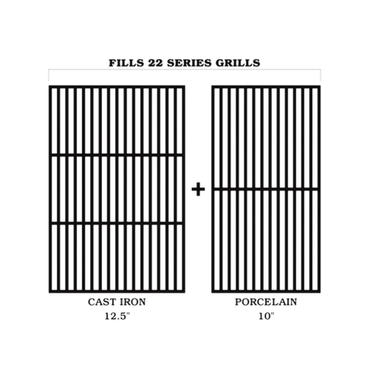 BAC366 TRAEGER GRILLS CAST IRON/PORCELAIN GRILL GRATE KIT - 22 SERIES