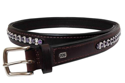 """Belt Full 1"""" Amethyst Design"""