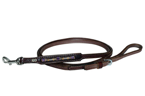 Dog Bracelet Leash Cable Amethyst Design