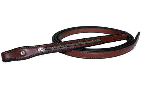 Western Reins Fancy Matt Green Tiger