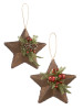 "GANZ 5"" ASST RUSTIC STAR ORNAMENT KK409"