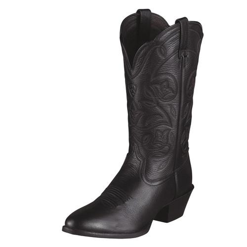 Ariat Women's Heritage Western R Toe Black Deetan Cowgirl Boots 10015770