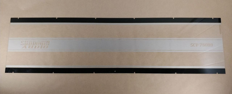 Sundown Audio SCV-6000D acrylic back plate