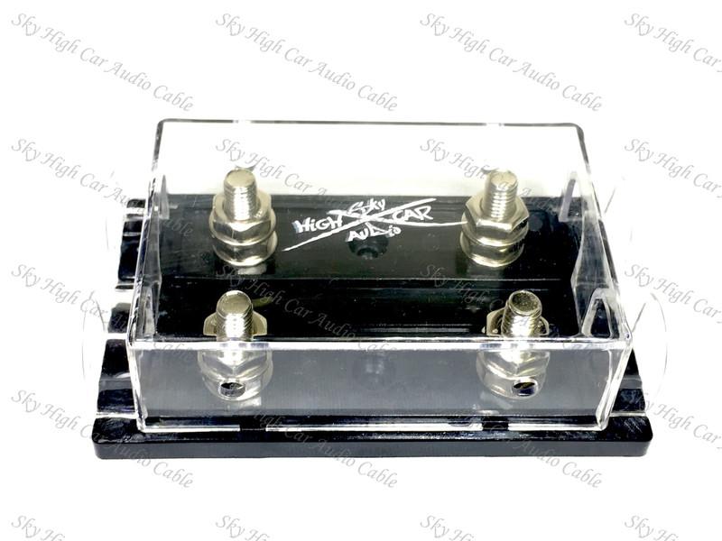 Sky High Car Audio 1/0 Gauge - 4 Gauge Dual ANL Fuse Holder (Ring Terminals)