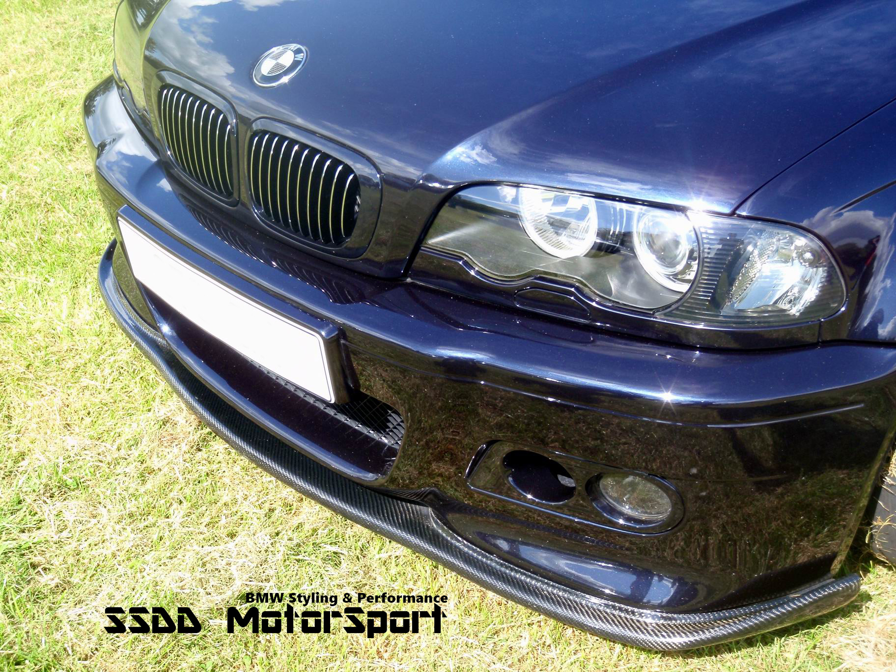 E46 M3 Racing One Piece Front Lip Splitter In Carbon Fibre Or Plastic