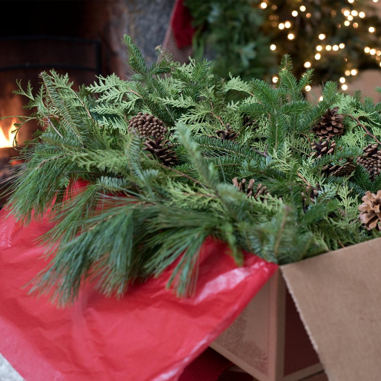 an abundant mix of aromatic christmas greens including balsam cedar and pine - Christmas Greens