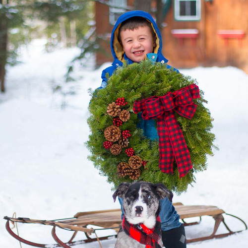Buffalo Plaid Lumberjack Wreath