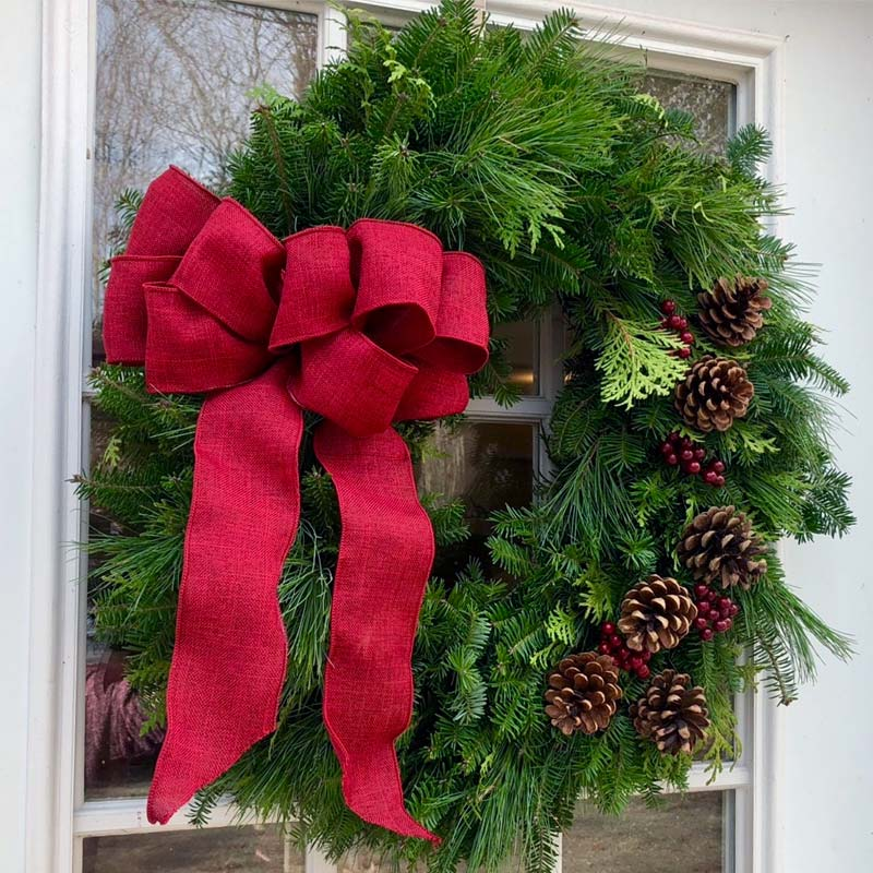 Corporate Gifts - Fresh Christmas Wreaths from Maine Balsam