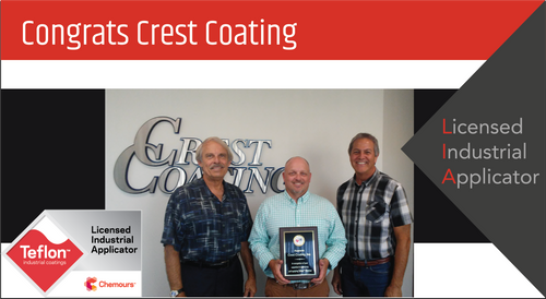 Intech Services Thanks Crest Coating, Inc. for Its Service as an LIA