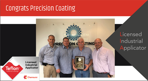 Intech Services Thanks Precision Coating Co. for Its Service as an LIA