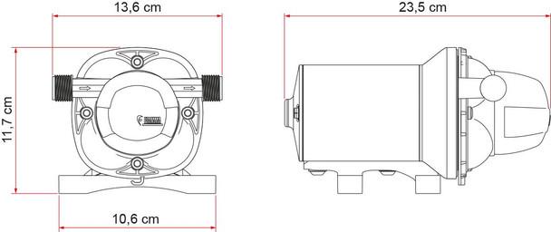 Fiamma Aqua F 12V 13 Litre Water Pump (07073-01-)