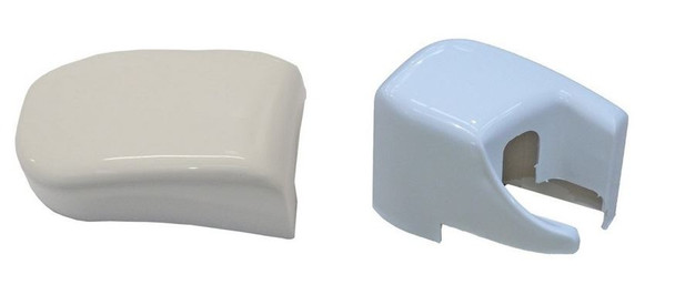 Fiamma F45 Plus & F45 Elegance XL-S Left & Right Hand Outer End Cap - Polar White (02740-01 & 02741-01-)
