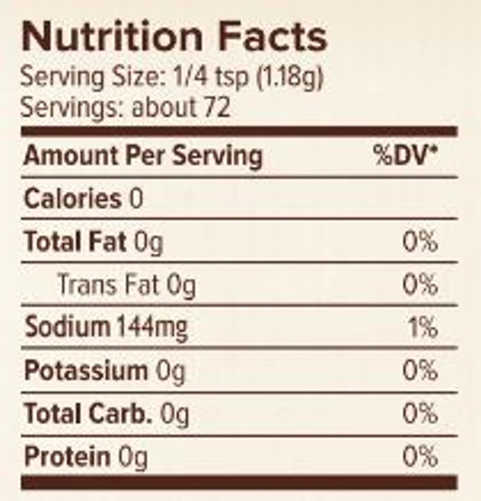 Seasonest Adobo Spice Blend Nutrition Facts