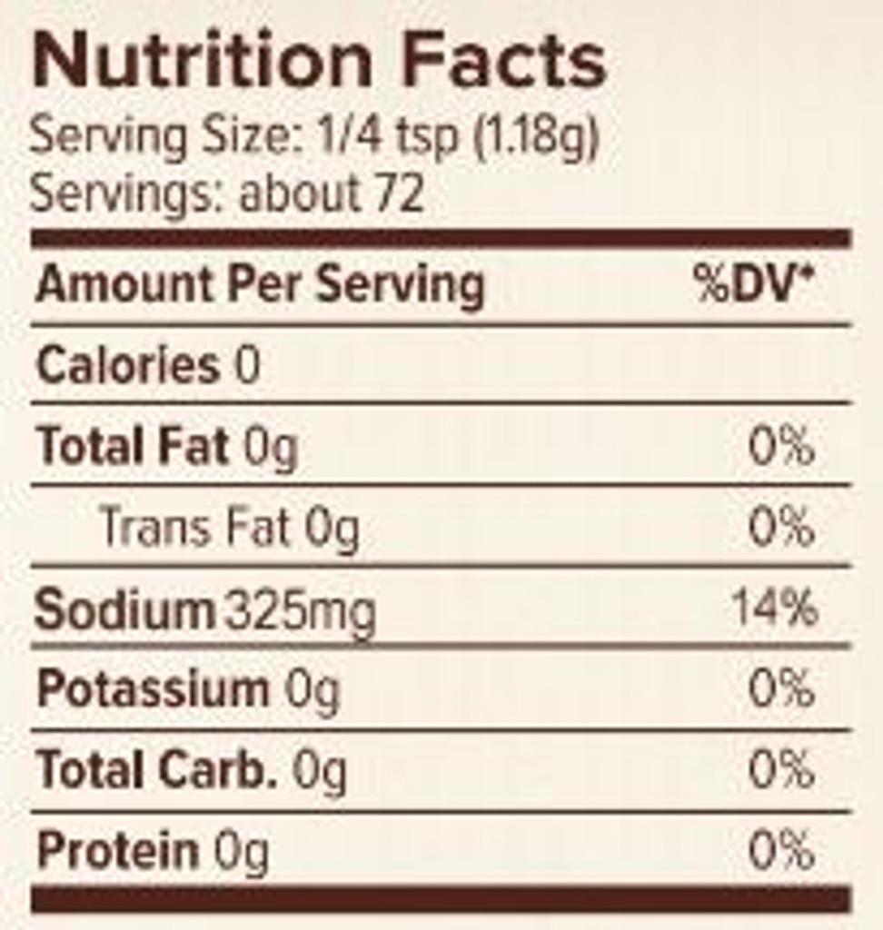 Seasonest Soul Food Spice Blend Nutrition Facts