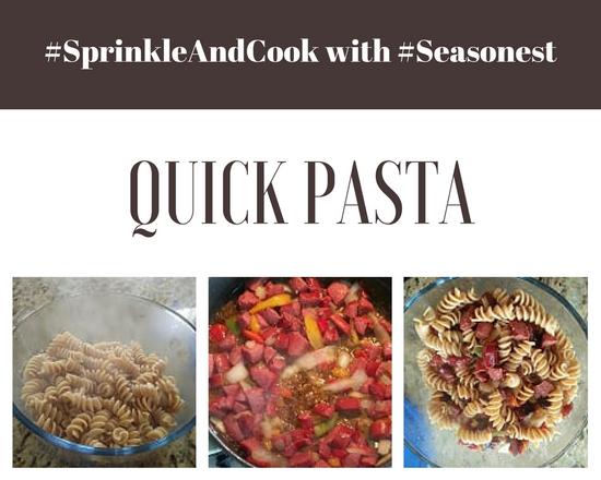 Quick Pasta dish with Seasonest Italian Spice Blend