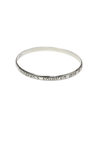 Children's Children are a crown...Grandmother Bangle Bracelet