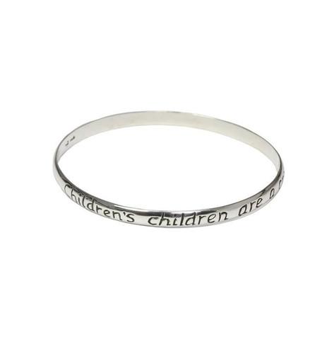 Children's Children are a crown...Grandmother Bangle Bracelet