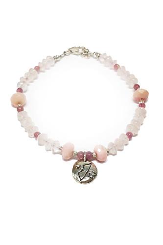 Fierce Pink Stones Bracelet