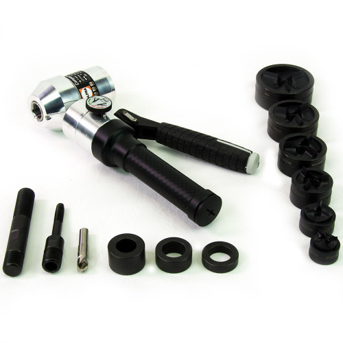 """ALFRA 01756 Compact Combi Swivel Head Hand Hydraulic Punch Kit w/TriCut 1/2"""" - 2"""" Conduit punch/die sets"""