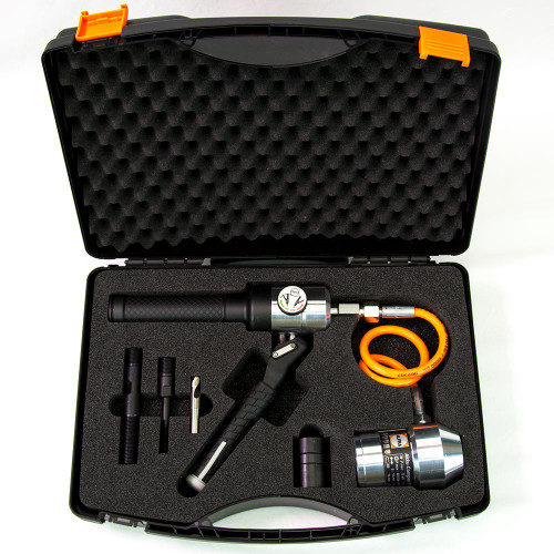 ALFRA 02065 Compact Flex Hand Hydraulic Punch Kit w/Draw Bolts, Pre-Drill, Bushings