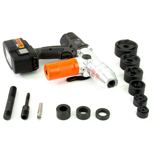 "ALFRA 02075.120V AKKU Compact Cordless Punch Kit w/MonoCut 1/2"" - 2"" Conduit punch/die sets"
