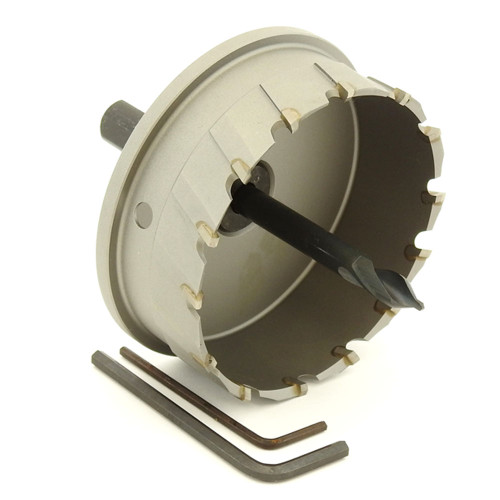 "ALFRA 0760087 MBS-PRO Series TCT HOLE SAW, 3-7/16"" DIA, 1-3/16"" DOC"