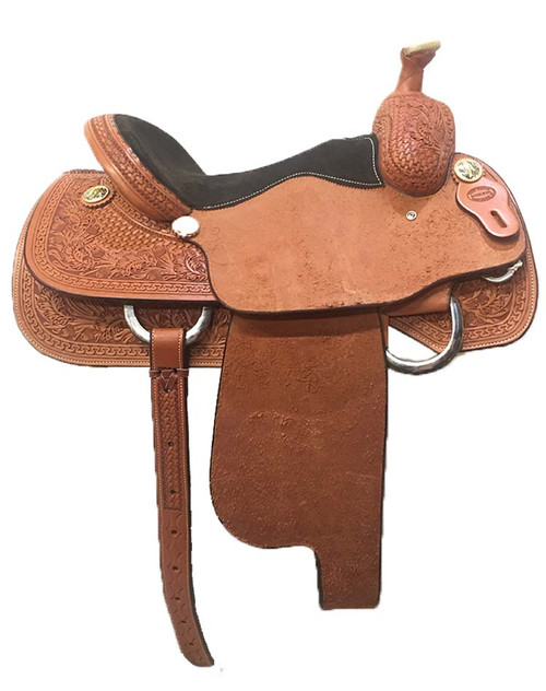 "New Roping Saddle by Fort Worth Saddle Co with 14.5"" seat. (SRO145NFJ913)"