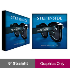 8ft ReadyPop Displays - Straight - Graphic Only