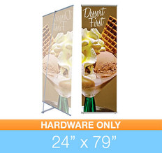 "L-Stand 24"" x 79"" Hardware"