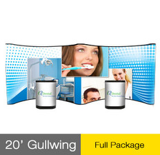 20ft Gullwing Big Wave Pop-Up Display