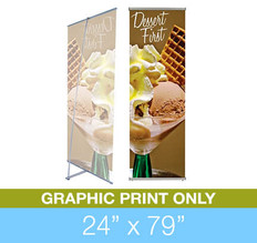 "L-Stand 24"" x 79"" Graphic Print"