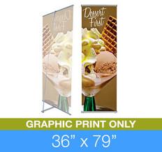 "L-Stand 36"" x 79"" Graphic Print"