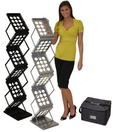 ZEDUP LITERATURE RACK BLACK SILVER