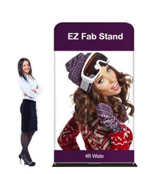 4ft EZ Fab Banner Stand Display