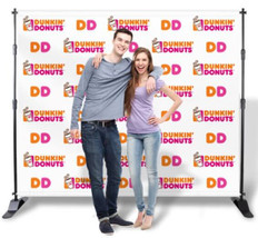 Dunkin Donuts Jumbo Step and Repeat Media Wall Backdrop Display
