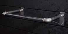 2' Rustic Pipe Hanger, Black