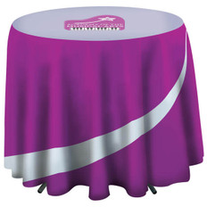 Round Draped Table Cover