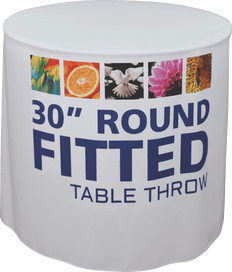 "Fitted Round Table Throw, 30"" x 42"""