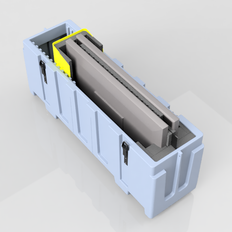 43-60 Monitor Case - Dual - Top View