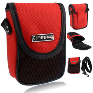 LUPO Universal Compact Digital Camera Case Bag (Internal Size: 100 x 65 x 30mm) - RED