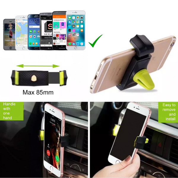 LUPO Universal Car Air Vent Mobile Phone Mount Holder