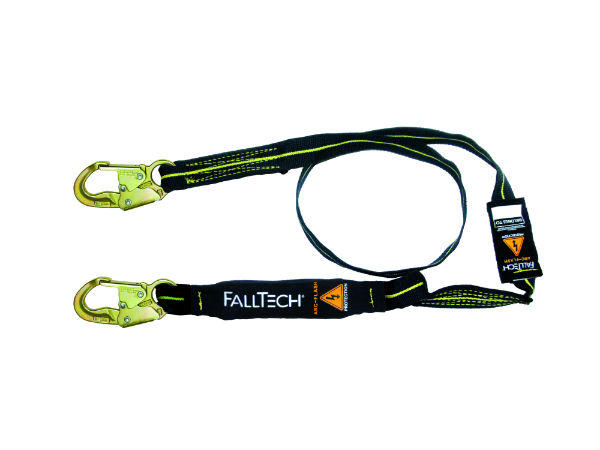 FallTech 8242AF 6' Arc Flash Shock Absorbing Lanyard, 2 Steel Snap Hooks, Kevlar and Nomex Web