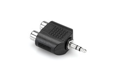 Hosa GRM-193 Adaptor Dual RCA to 3.5 mm TRS