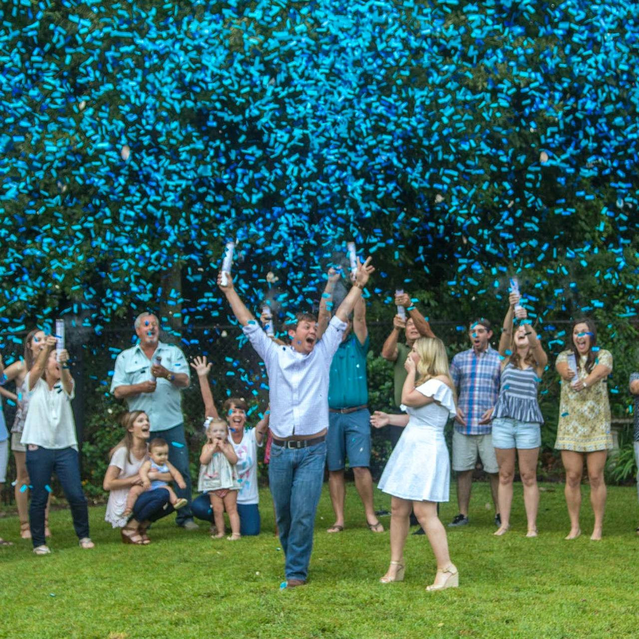 Gender Reveal Confetti Cannon Sparklers Us